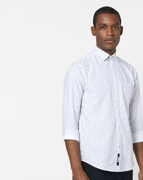 Paisley Print Shirt With Patch Pocket By Killer ( White )