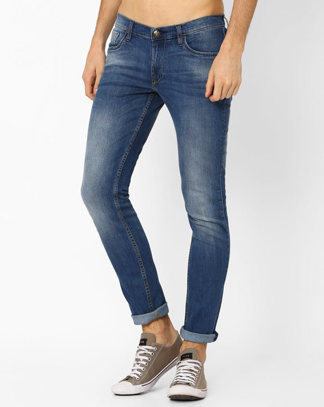 Low-Rise Skinny Fit Tapered Jeans By Lee ( Lightblue )