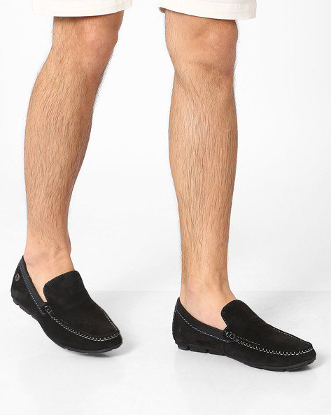 Genuine Leather Loafers By Lee Cooper ( Black )
