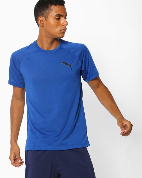 Dri-Release Slim Fit T-shirt By Puma ( Blue )