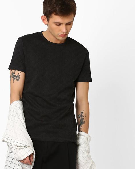 Slim Fit Crew-Neck T-shirt By ADAMO LONDON ( Darkgrey )