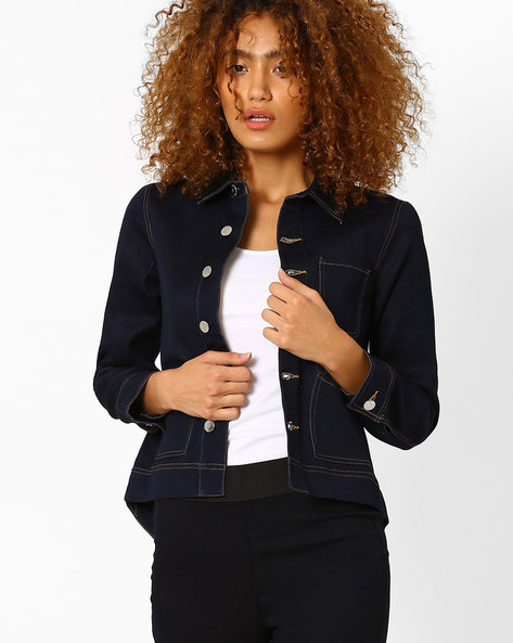 Denim Jacket With Insert Pockets By CHEMISTRY ( Blue )