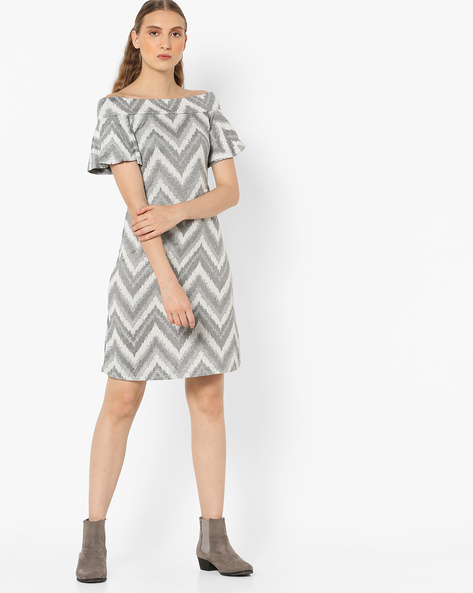 Off-Shoulder Shift Dress By And ( Assorted )