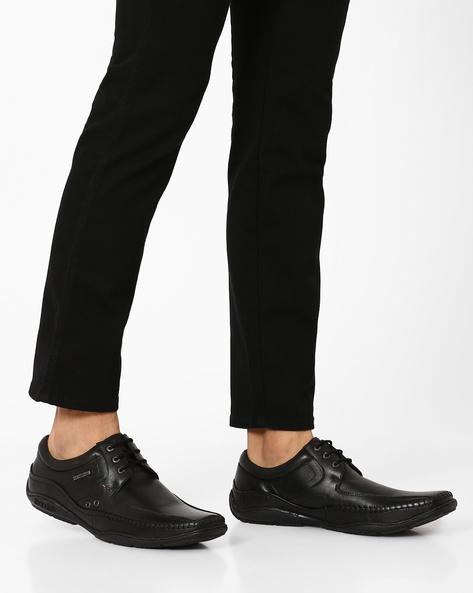 Paulin Leather Casual Shoes By BUCKAROO ( Black )