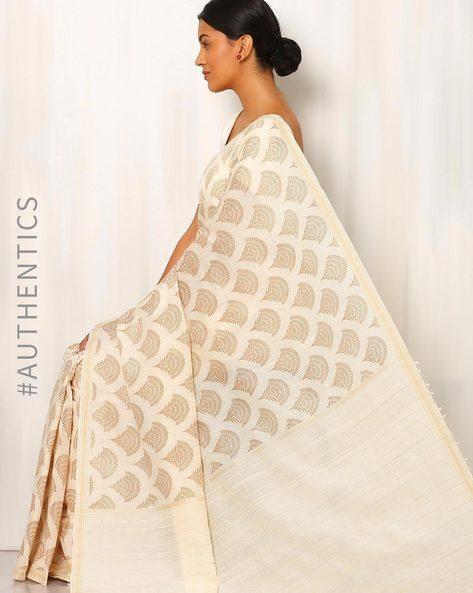 Printed Cotton Silk Saree With Ghicha Pallu By Rudrakaashe-MSU ( Multi ) - 460011250001