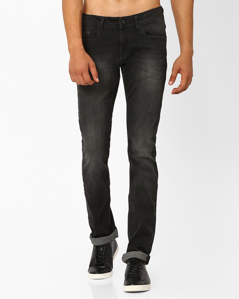 Torque Fit Moonless Night Stretch Jeans By BASICS ( Black )