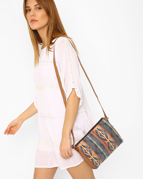 Ikat Print Sling Bag By AJIO ( Multi )
