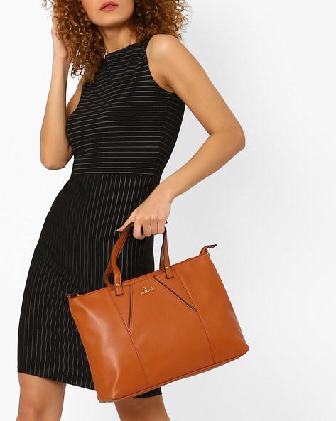 Handbag With Detachable Sling By Lavie ( Tan )
