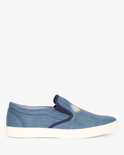 Slip-On Sneakers With Elasticated Gussets By Nuboy ( Denim ) - 460087792001