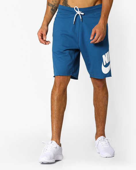 Mid-Rise Shorts With Drawstring Fastening By NIKE ( Blue ) - 460094592006