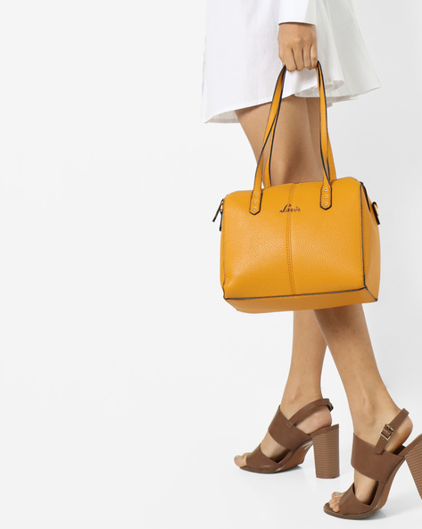 Textured Shoulder Bag By Lavie ( Yellow )