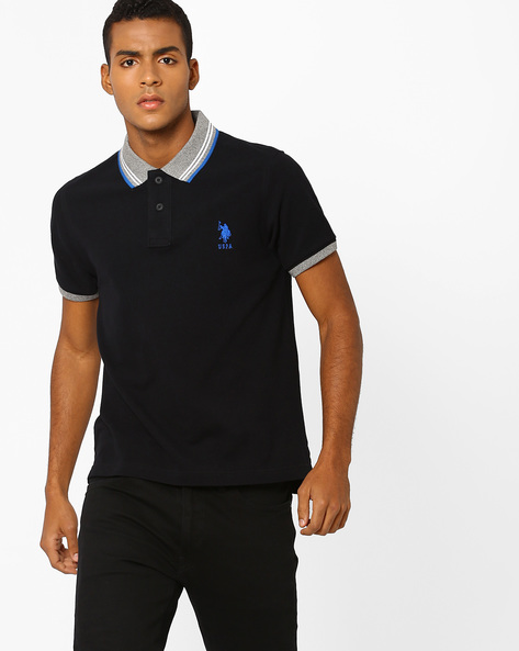 Polo T-shirt With Contrast Collar By US POLO ( Assorted )