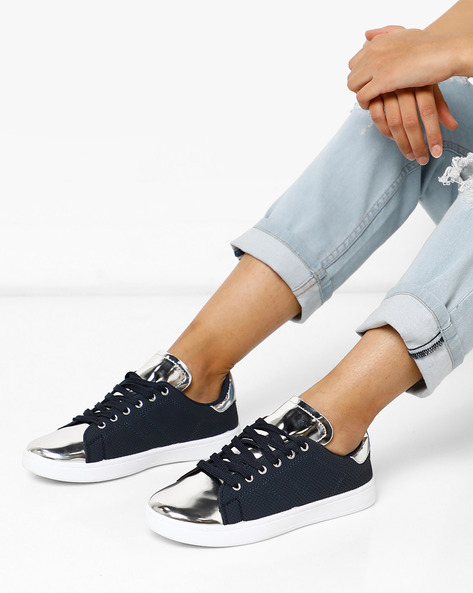 Panelled Lace-Up Shoes By Lavie ( Navy )
