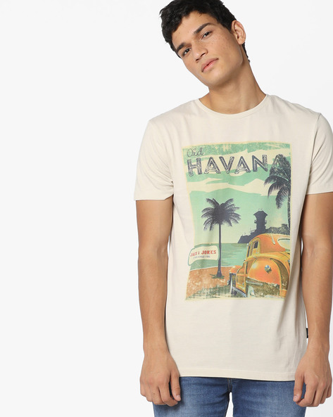 Santiago De Cuba Print T-shirt By Jack & Jones ( Assorted )
