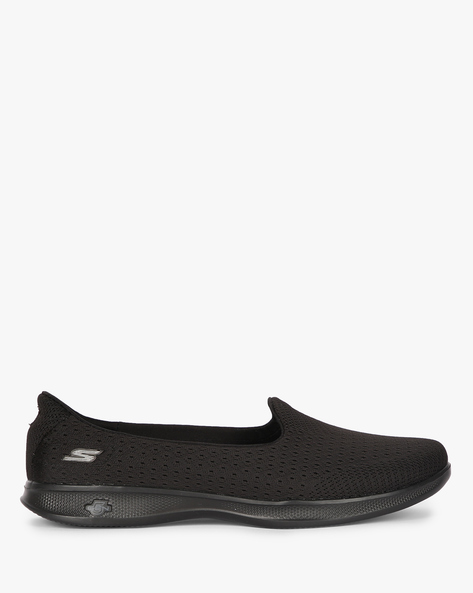 Go Step Lite Origin Walking Shoes By Skechers ( Black )