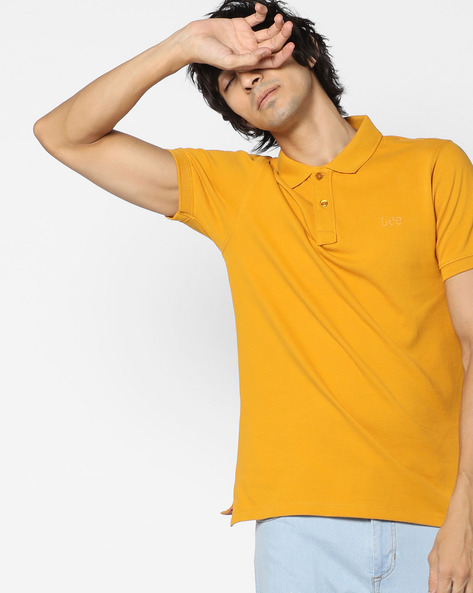 Cotton Polo T-shirt By Lee ( Yellow )