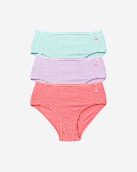 Pack Of 3 Printed Panties By Under Colors Of Benetton ( Multicolor )