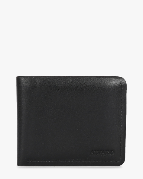 Genuine Leather Bi-Fold Wallet By ALVARO CASTAGNINO ( Black ) - 460135681001