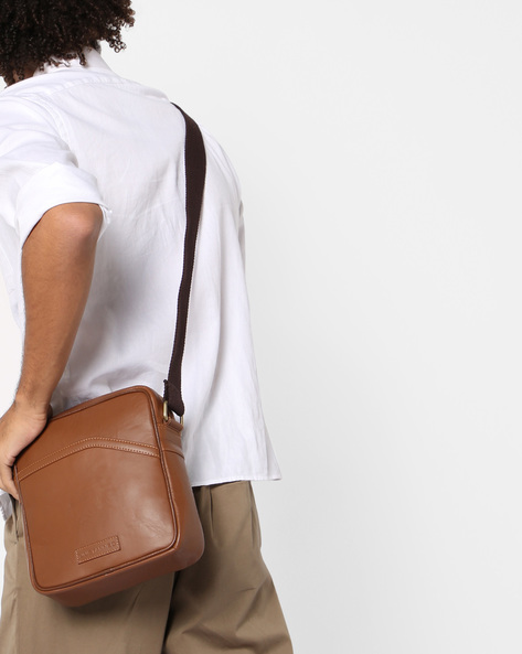 Genuine Leather Crossbody Bag By JUSTANNED ( Lgttan )
