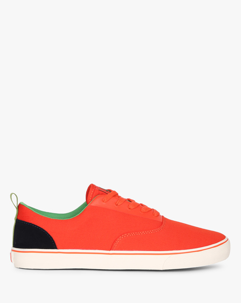 Panelled Canvas Casual Shoes By UNITED COLORS OF BENETTON ( Orange )