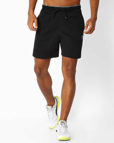 Knitted Shorts With Elasticated Waist By PROLINE ( Black )