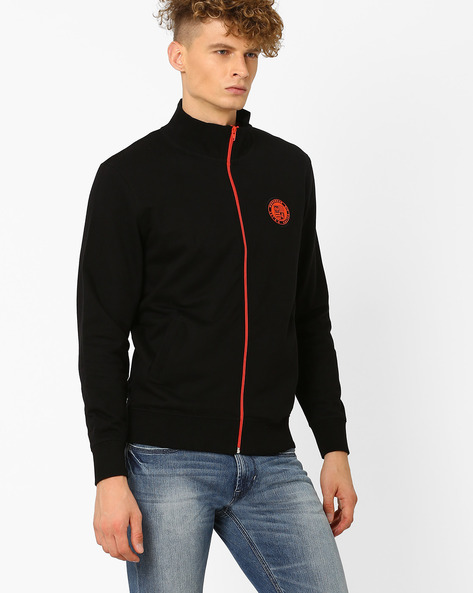 Sweatshirt With Front Zip By Lee ( Black )