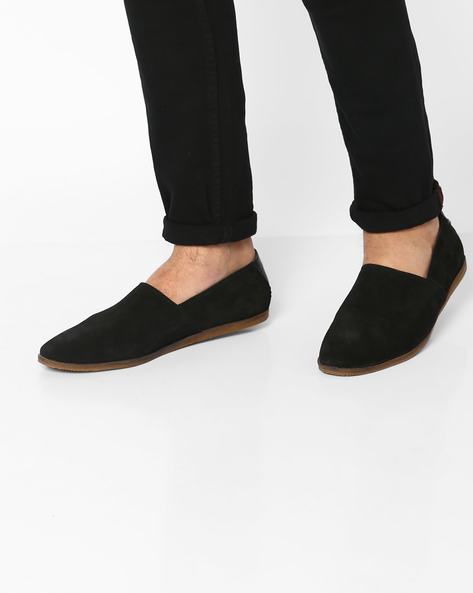 Genuine Leather Casual Shoes By Carlton London ( Black )