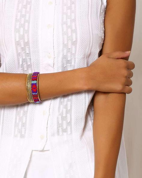 Embroidered Adjustable Bangle By Indie Picks ( Multi )