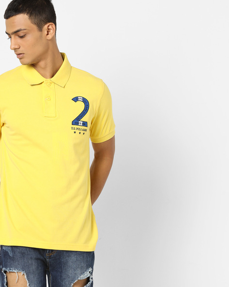 Polo T-shirt With Ribbed Collar By US POLO ( Assorted )