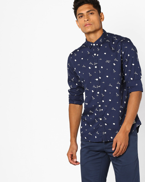 All-OverPrint Shirt With Curved Hem By FLYING MACHINE ( Assorted )