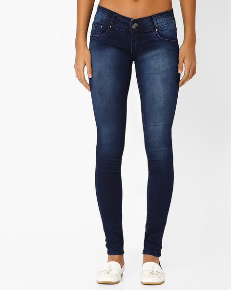 Low-Rise Skinny Jeans By Recap ( Charcoal )