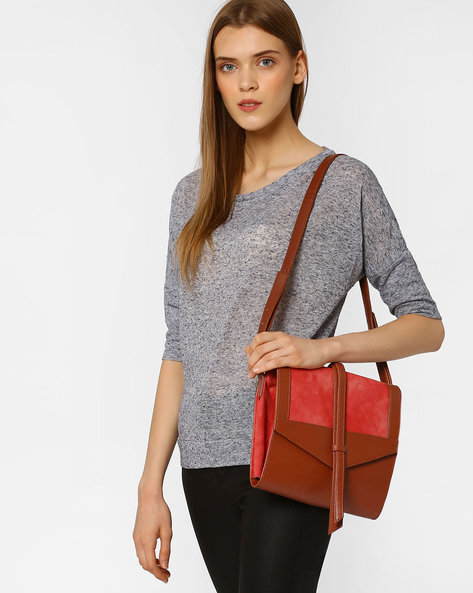 Sling Bag With Adjustable Strap By Pockit ( Tan )