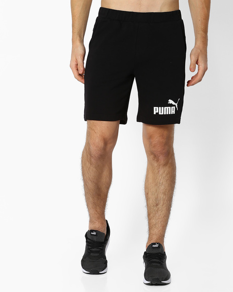 Mid-Rise Shorts With Elasticated Waist By Puma ( Black )