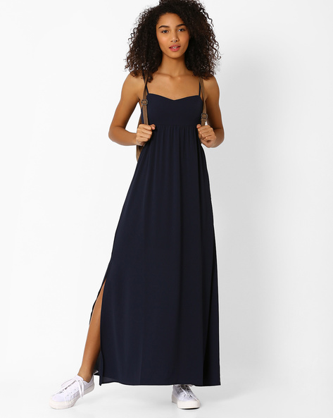 Strappy Maxi Dress By Only ( Blue )
