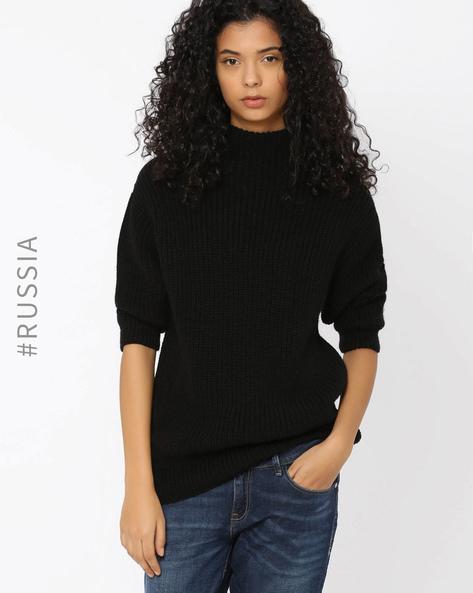 Crew-Neck Sweater By Kira Plastinina ( Black )