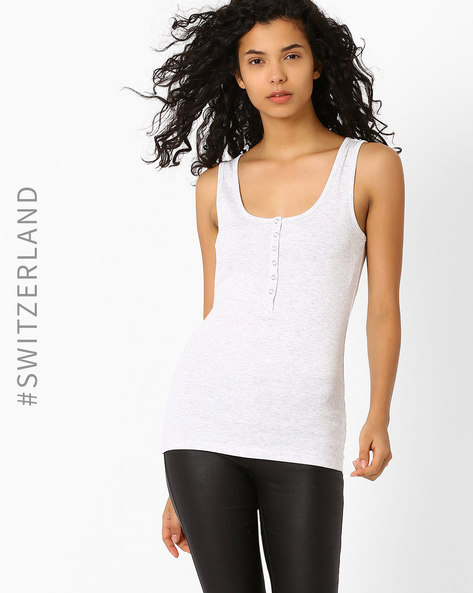 Soild Tank Top By TALLY WEiJL ( White )