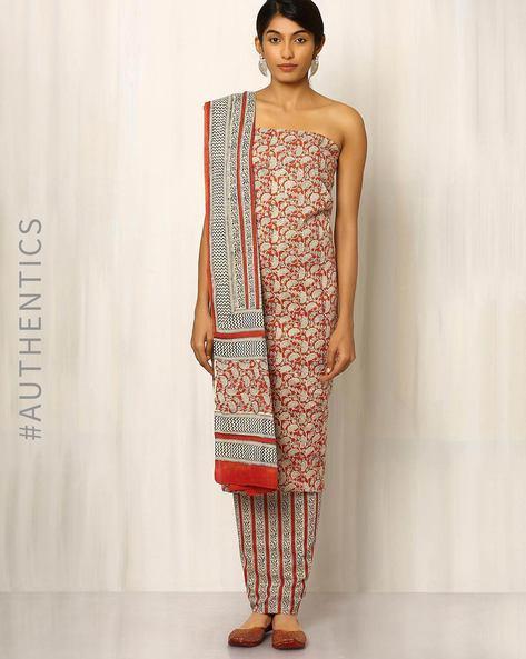 Bagru Print Cotton Dress Material By Indie Picks ( Multi )