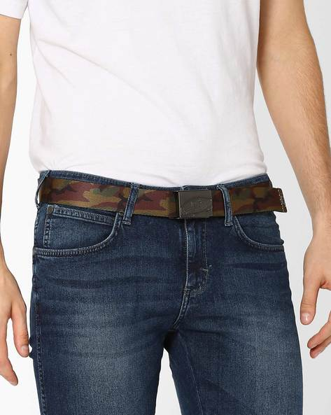 Reversible Belt With Camouflage Print By Vans ( Military )