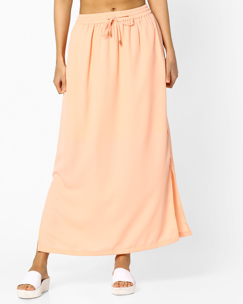 Ankle-Length A-line Skirt By Project Eve WW Casual ( Coral )