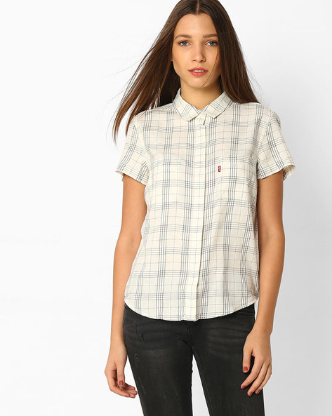 Checked Shirt With Patch Pockets By LEVIS ( White )