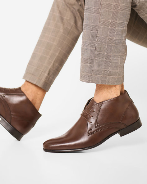 Mid-Top Lace-Up Shoes By Bond Street By Red Tape ( Brown )