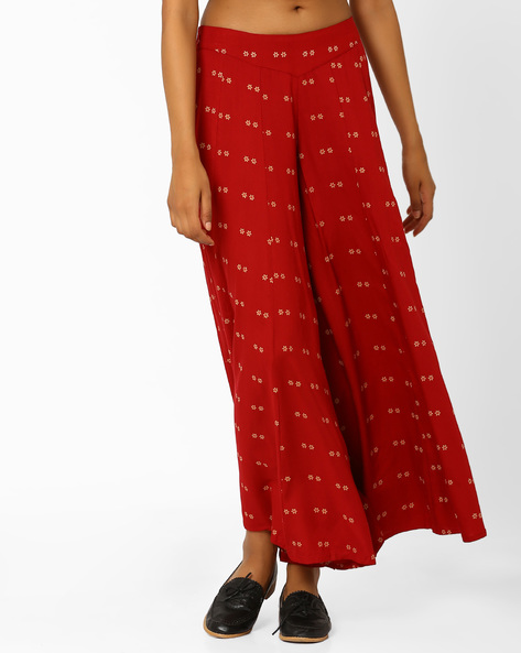 Floral Print Maxi Skirt By W ( Beige )