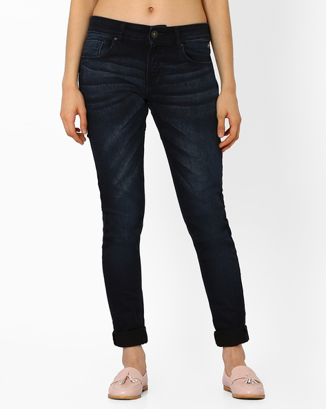 Lightly Washed Skinny Jeans By SF Jeans By Pantaloons ( Indigo )