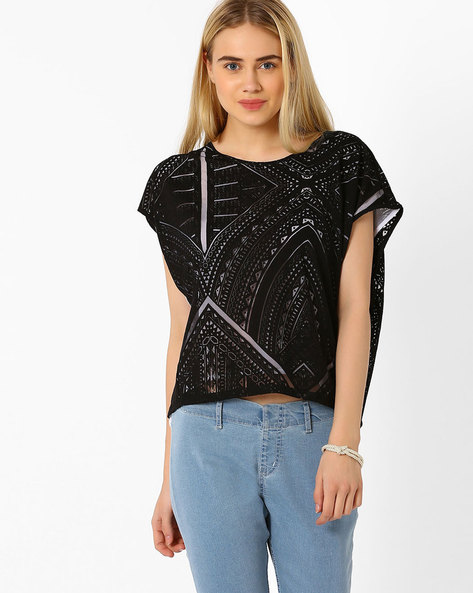 Layered Crop Top By And ( Black )