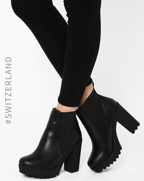 Heeled Ankle Boots By TALLY WEiJL ( Black )
