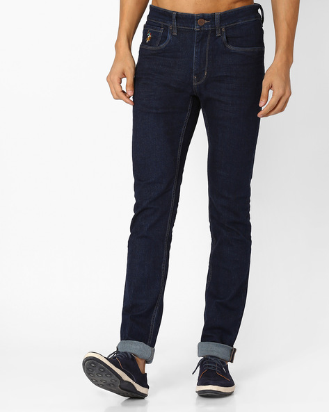 Low-Rise Skinny Jeans By US POLO ( Blue )