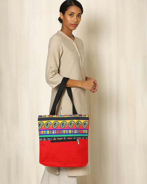 Digital Print Tote Bag By All Things Sundar ( Multi ) - 460040266001