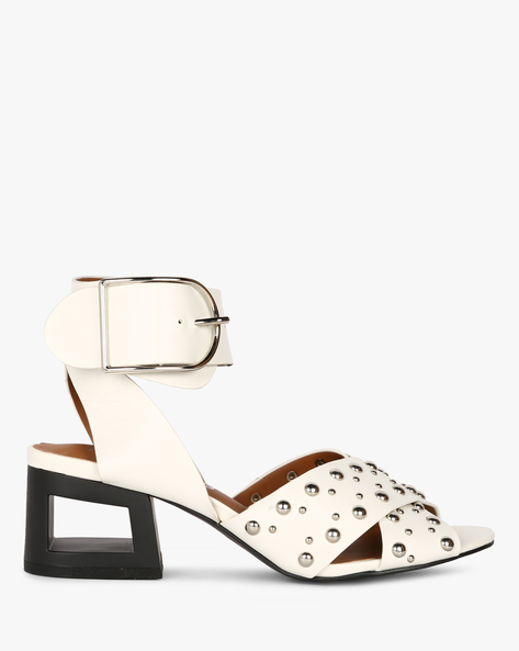Heeled Sandals With Embellishments By Truffle Collection ( White )