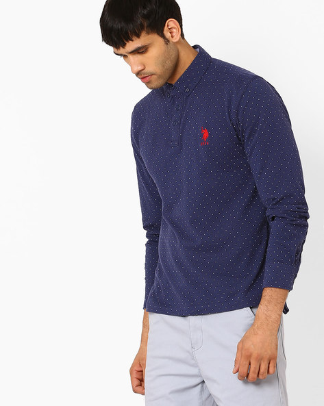 Slim Fit Polo T-shirt By US POLO ( Blue )