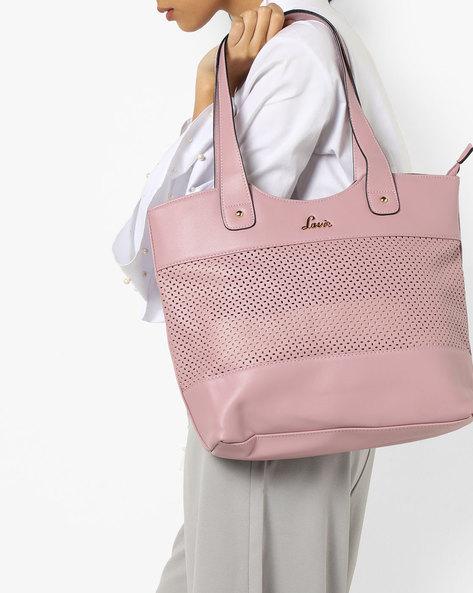 Laser-Cut Tote Bag By Lavie ( Pink )